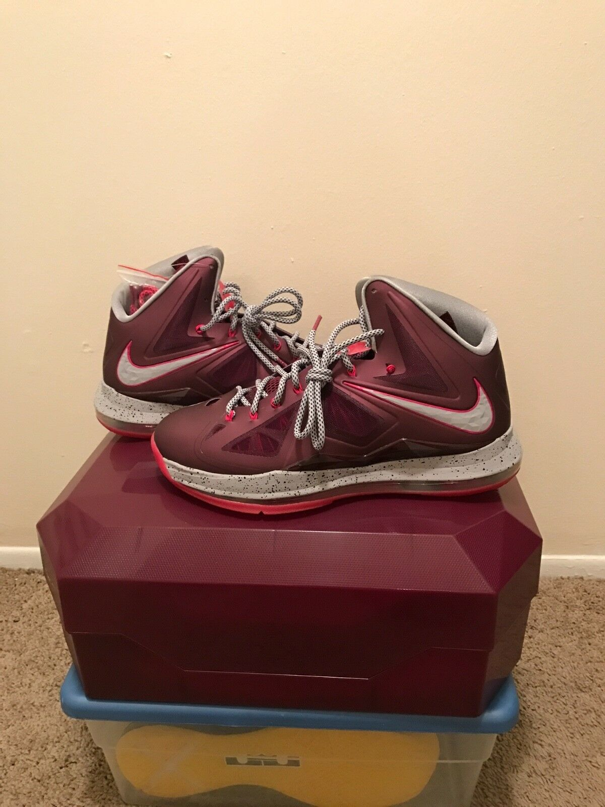 Nike Lebron X Crown Jewels Size 12 D.S 100% Authentic