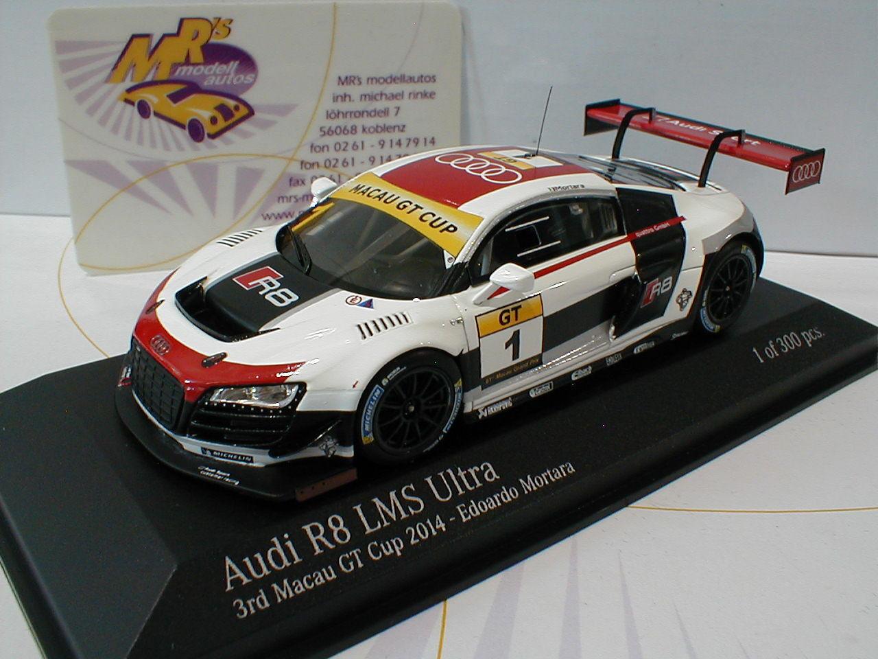 Minichamps 447140101   AUDI R8 LMS Ultra 3rd Macau GT Cup 2014 - Mortara 1 43  | Klein und fein