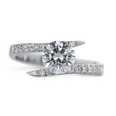 Enthusiastic 1.40 Ct Diamond Solitaire Rings 14k Solid White Gold Womens Rings Size N M J I O Other Fine Rings
