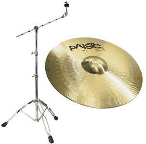 paiste 101 20 ride cymbals boom cymbal stand 4251073821900 ebay. Black Bedroom Furniture Sets. Home Design Ideas