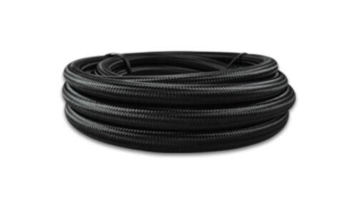 Vibrant Performance 20ft Roll of Black Nylon Braided Flex Hose #11976