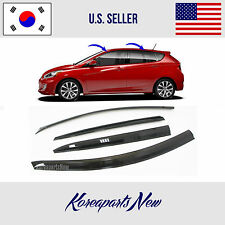 SMOKED DOOR WINDOW VENT VISOR DEFLECTOR A139 HYUNDAI ACCENT HATCHBACK 2012-2017