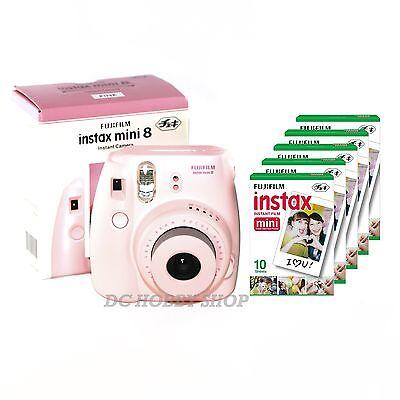 Fuji instax mini 8 pink Fujifilm instant camera + 50 film