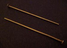 200 SPILLE TESTA antico bronzo 40mm LUNGA 0,7 mm di spessore