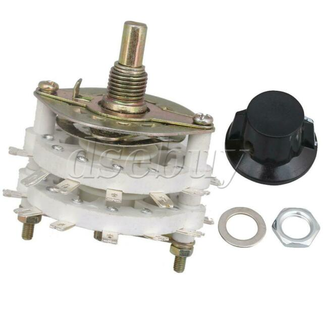 KCT Plastic 4 Pole 5 Position 2 Deck Band Channel Rotary Switch Selector