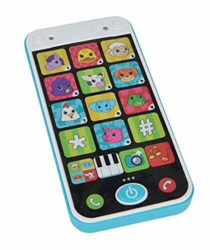 Simba ABC Spielzeughandy Smartphone Babytelefon mit Licht und Sound 14 cm