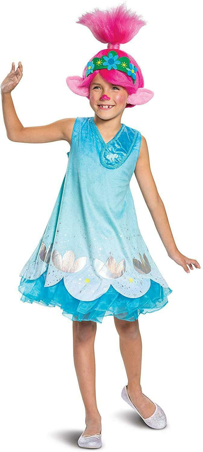 Troll Movie 2 Poppy Deluxe Girls size S 4/6x Licensed Costume Disguise