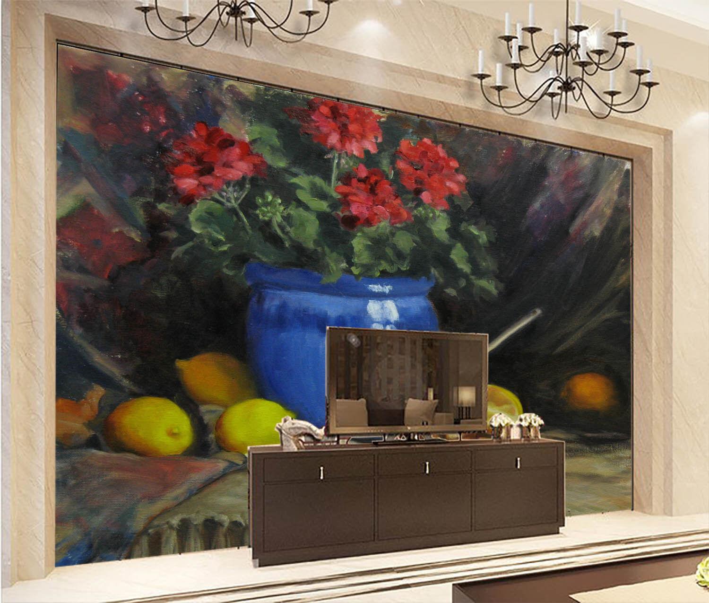 3D Zitrone Blaue Vase 7 Tapete Wandgemälde Tapete Tapeten Bild Familie DE Summer | Diversified In Packaging  | Ausgezeichnete Qualität  | Won hoch geschätzt und weithin vertraut im in- und Ausland vertraut