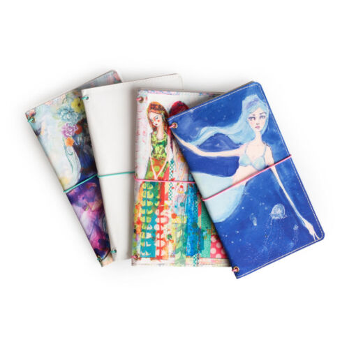 Sisters NEW Jane Davenport Canvas Travelers Notebook Butterfly Book