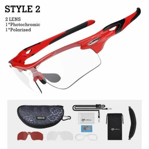 Glasses Polarized Photochromic Cycling Sunglasses Goggles Lens Sports