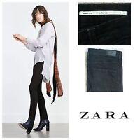 Zara Women's Super Slim Black Distressed Jeans