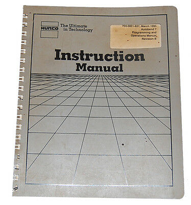Hurco Autobend IV Operations Maintenance and Parts Manual Two Axis Promecam