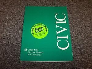 2006 2007 2008 2009 honda civic gx shop service repair manual rh ebay com 2009 honda civic service manual pdf 2009 honda civic service manual download
