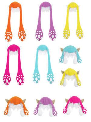 Splatoon 2 Inkling Squid Balaclava Hair Hats Cosplay Costumes Colourful Cap Game