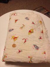 Vintage 60s 1964 Winnie The Pooh Baby Crib Blanket Quilt Piglet Tigger Eeyore