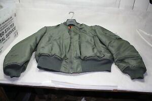 Old-flight-jacket-XL-Green-Orange-clothing-Army-Air-Force-Marines-Navy-EPS23091