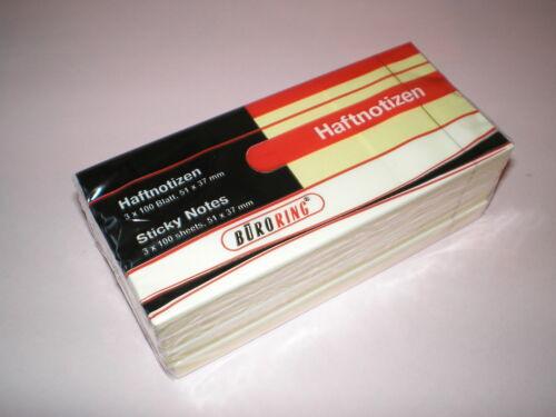Haftnotiz Block 50x40 mm gelb Haftnotizen Notizblock BRG133330 NEU 12 x 100 Bl