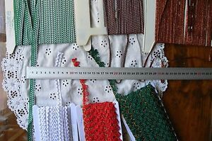 Mixed-Fancy-CHRISTMAS-Poly-BRAID-4-14mm-6-Types-3-amp-5-Metres-MultiList-T1Hall
