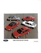 "1990 FORD ESCORT RANGE 'HISTORICAL' PRESS PHOTO""sale brochure related"""