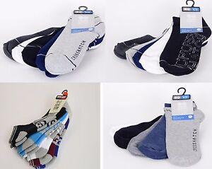 New Crosshatch 5 Pack Ankle Socks Designer Socks Colourful Summer 6-12 Size Gift Einfach Und Leicht Zu Handhaben Kleidung & Accessoires