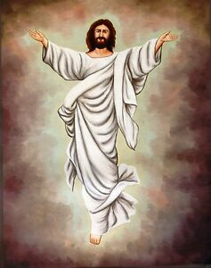Jesus-Christ-Art-Handmade-Indian-Christian-Bible-Oil-on-Canvas-Holy-Painting