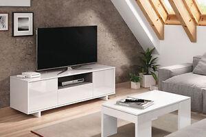 Mueble salon comedor modulo bajo de TV Blanco Banitatis Zaira ...