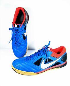 Nike 5 GATO Men s Size 15 Blue Orange Indoor Soccer Shoes 415122-414 ... e7cfeb114d0