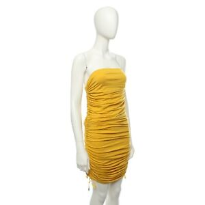 Paul-Smith-Ladies-Mustard-Yellow-Knitted-Dress-Size-M-14
