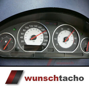 Tachoscheibe-fuer-Tacho-BMW-E36-Benziner-034-Racing-034-260Km-h-top
