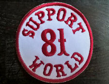 "HELLS ANGELS Support 81 Patch  Aufnäher ""SUPPORT 81 WORLD"" rund P03"