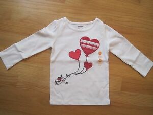 99c175b6502 Girl Gymboree RED HEARTS BALLOONS DOG WHITE top shirt NWT 18m 24m ...