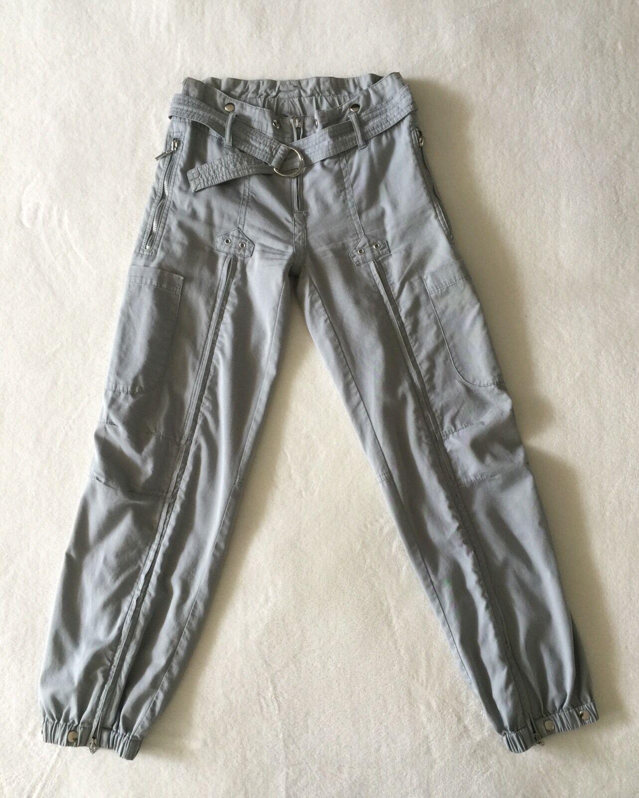PLEIN SUD JEANS WOMAN LEGS ZIPPER PANTS GREY SIZE  40 8