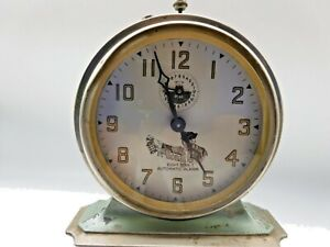 Antique-034-The-National-Call-034-Automatic-Alarm-Clock-Circa-Pre-1930-039-s