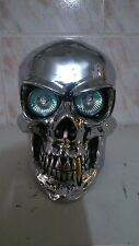 Skull custom headlight for motorcycle