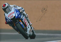Jorge LORENZO Signed MotoGP World Champion YAMAHA 12x8 Photo AFTAL Spanish RARE