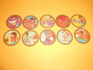 122 Pogs Pog Caps Milkcaps Flippo : Lot De 10 Hoppies Handicap Structurel