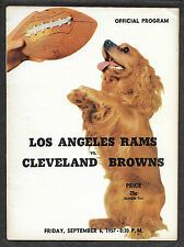 Sept 6 1957 Browns/Rams Football Program Jim Brown Rookie - One of 1st NFL Games