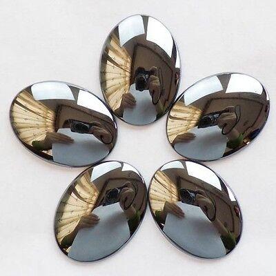 X0034733 Beautiful Hematite CAB CABOCHON 5Pcs