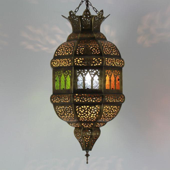 Oriental marroquí Handmade árabes  pa rojo  árabes lámpara lámpara de latón