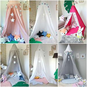 Détails sur Ciel de lit Rosace Plafond XXL Chambre Enfant Tente Tente pour  enfants lit ciel pourvu- afficher le titre d\'origine