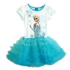 Princess Toodler Kids Girls Frozen Elsa Anna Party Layered Tulle Tutu Dress 1-6Y