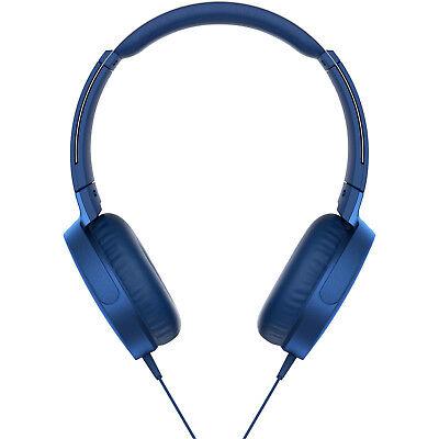 SONY MDR-XB550AP, On-ear Kopfhörer, Blau