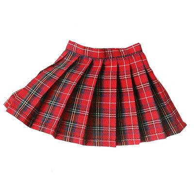 [wamami] 05# Red Plaid Dress/ Checked Skirt 1/4 MSD LUTS DZ BJD Dollfie