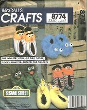 Muppet Slippers Sesame Street Bert & Ernie Jim Henson UNCUT McCalls PATTERN 8774