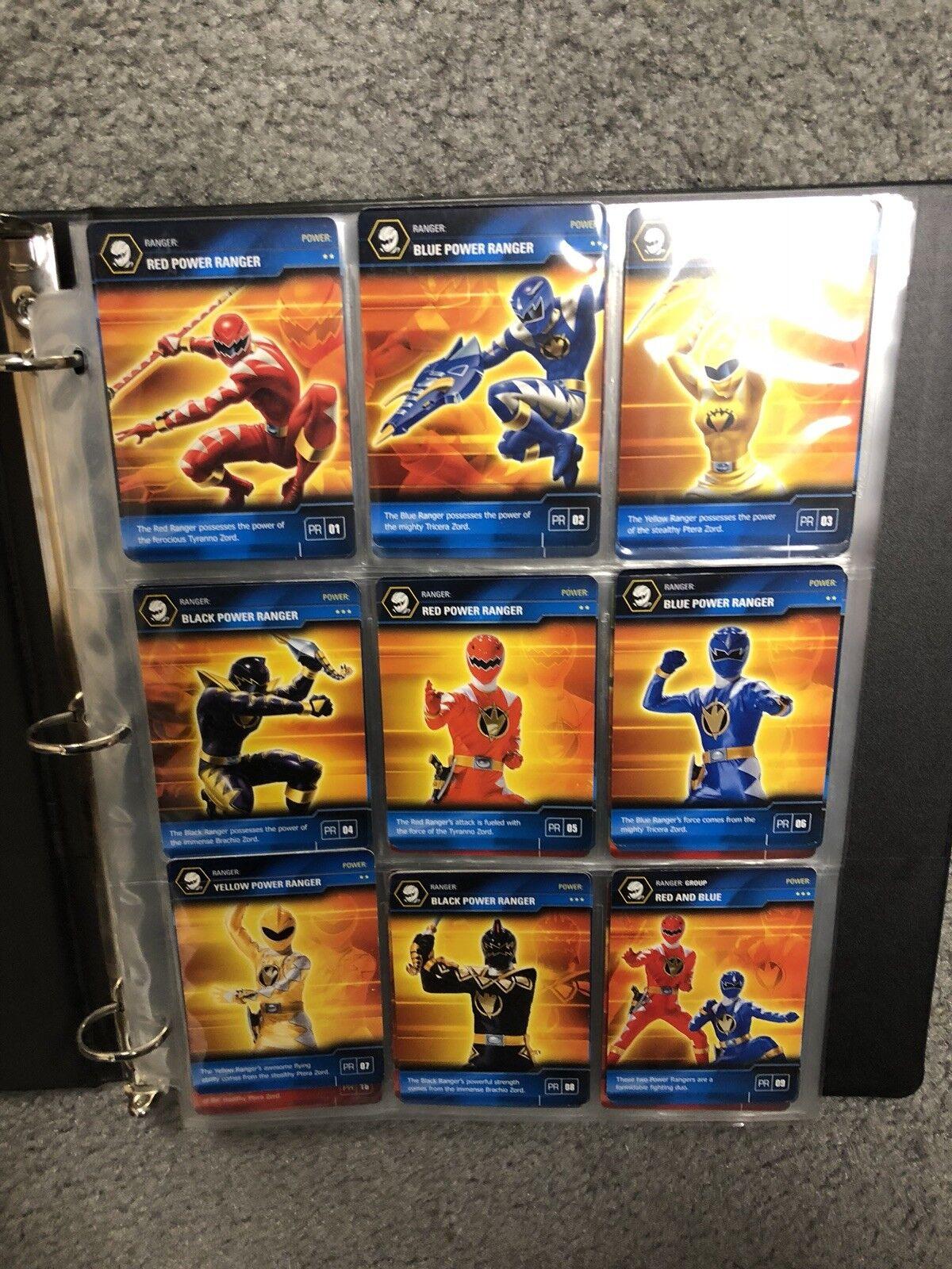Power rangers dino donner meist kompletten trading cards gesetzt