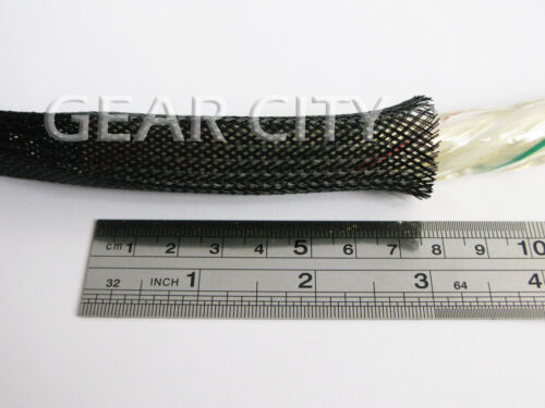 jb01l 3m 10ft LARGE 20mm Black Expandable Braid Sleeving Polyester Cable DIY