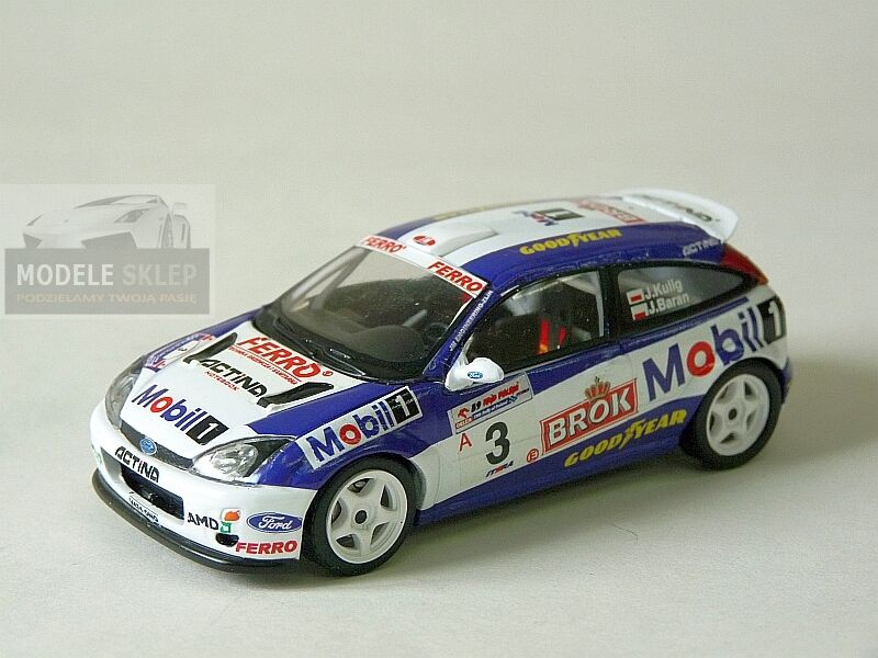 JANUSZ KULIG FORD FOCUS WRC RALLY OF POLAND 2002  1 43 scale model  code3