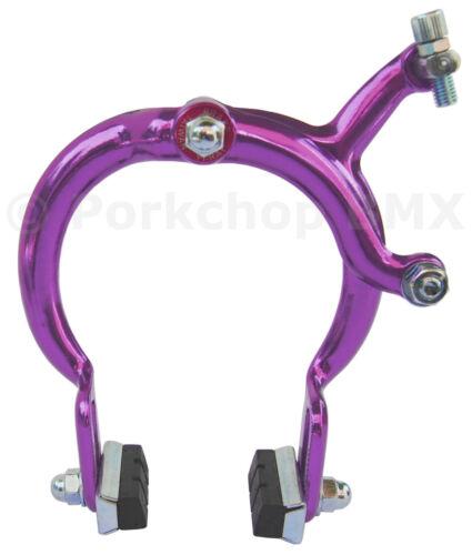1080 bicycle old school BMX Cruiser extra long reach REAR brake caliper PURPLE