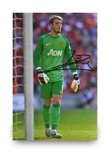 David-De-Gea-Hand-Signed-6x4-Photo-Manchester-United-Goalkeeper-Autograph-COA