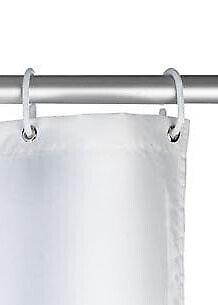 WENKO Anti-Schimmel Duschvorhang Uni White 180 x 200 cm waschbar    Vorhang  Bad